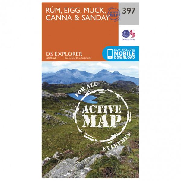 Ordnance Survey - Rum / Eigg / Muck Explorer Waterproof - Hiking map