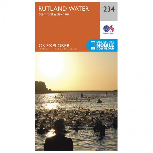 Ordnance Survey - Rutland Water / Stamford / Oakham - Turkart