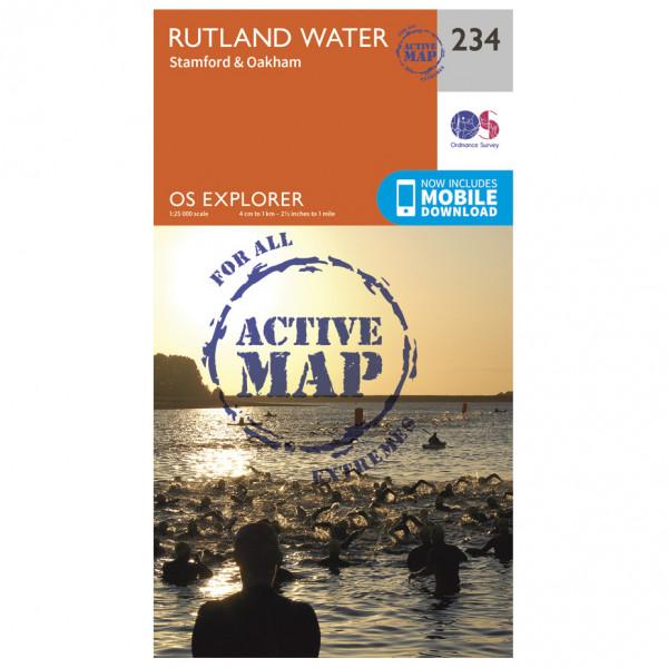 Ordnance Survey - Rutland Water Waterproof - Vandrekort