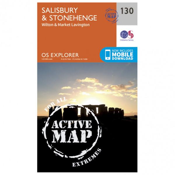 Ordnance Survey - Salisburry / Stonehenge Waterproof - Vaelluskartat