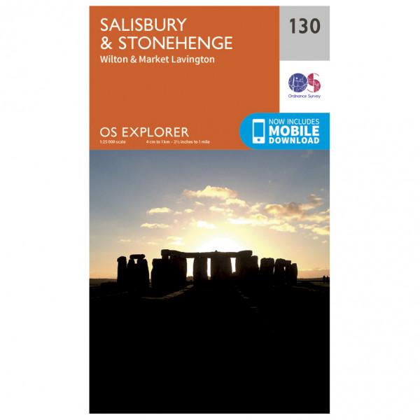Ordnance Survey - Salisbury / Stonehenge - Vaelluskartat