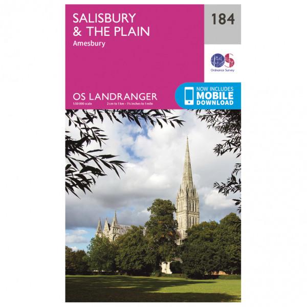 Ordnance Survey - Salisbury / The Plain - Mapa de senderos
