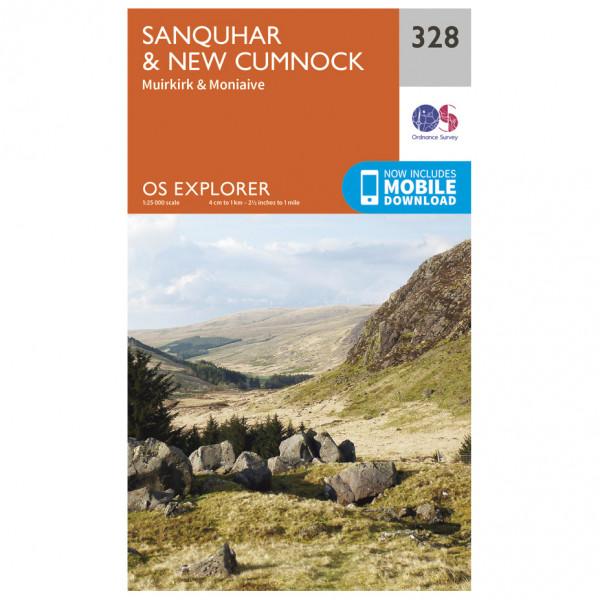 Ordnance Survey - Sanquhar / New Cumnock EXP328 - Wanderkarte