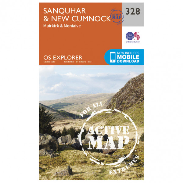 Ordnance Survey - Sanquhar / New Cumnock Waterproof - Hiking map
