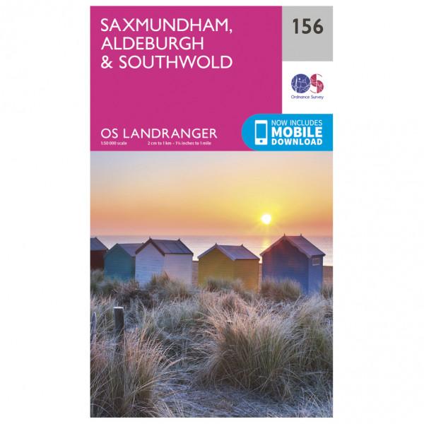 Ordnance Survey - Saxmundham / Aldeburgh L156 - Wanderkarte