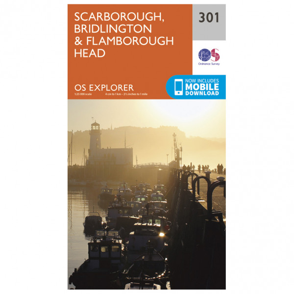 Ordnance Survey - Scarborough / Bridlington / Flamborough Head EXP301 - Wanderkarte