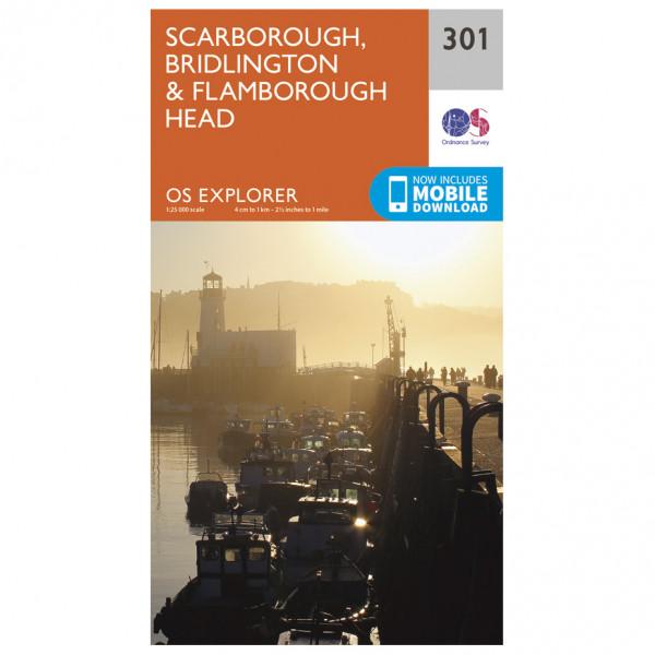 Ordnance Survey - Scarborough / Bridlington / Flamborough Head - Vandrekort