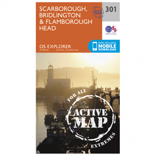Ordnance Survey - Scarborough / Bridlington / Flamborough Head Waterproof - Hiking map