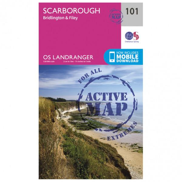 Ordnance Survey - Scarborough, Bridlington & Filey Waterproof - Hiking map