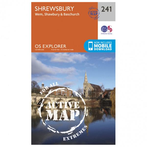 Ordnance Survey - Schrewesbury Waterproof - Wandelkaarten