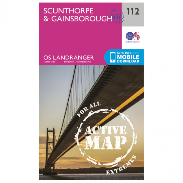 Ordnance Survey - Scunthorpe / Gainsborough Waterproof LA112 - Wanderkarte