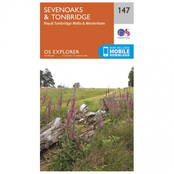 Ordnance Survey - Sevenoaks / Tonbridge - Hiking map