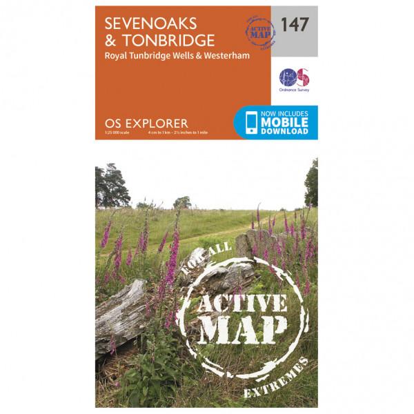 Ordnance Survey - Sevenoaks / Tonbridge Waterproof - Mapa de senderos