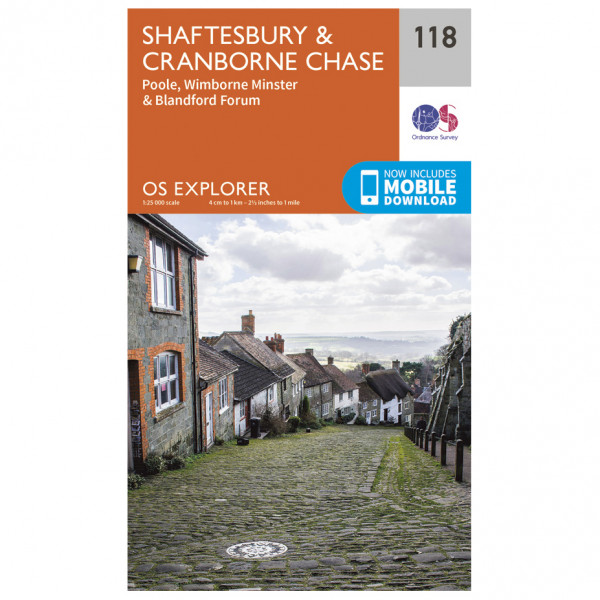 Ordnance Survey - Shaftesbury / Cranborne Chase - Hiking map