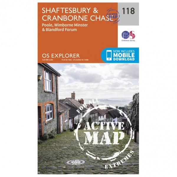 Ordnance Survey - Shaftesbury / Cranbourne Chase / Poole Waterproof - Vandrekort