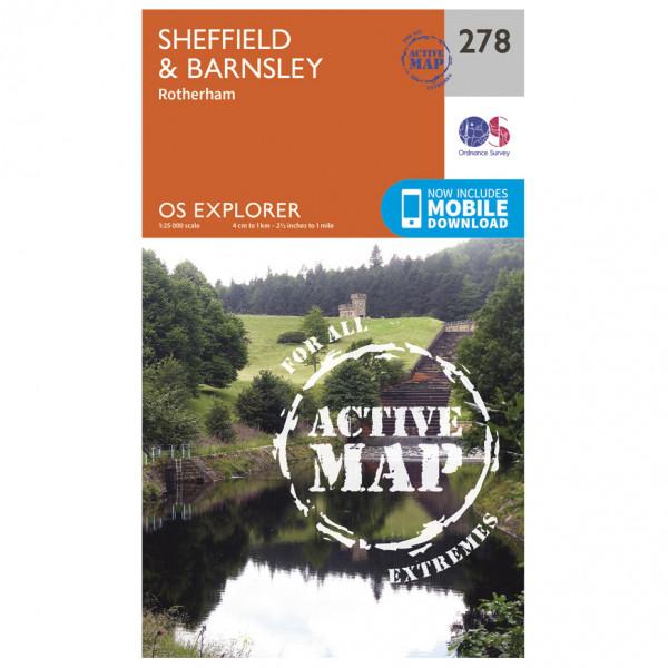 Ordnance Survey - Sheffield / Barnsley Waterproof EXPL278 - Wanderkarte