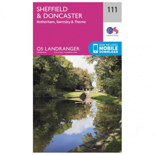 Ordnance Survey - Sheffield / Doncaster / Rotherham /Barnsley/Thorne - Carte de randonnée