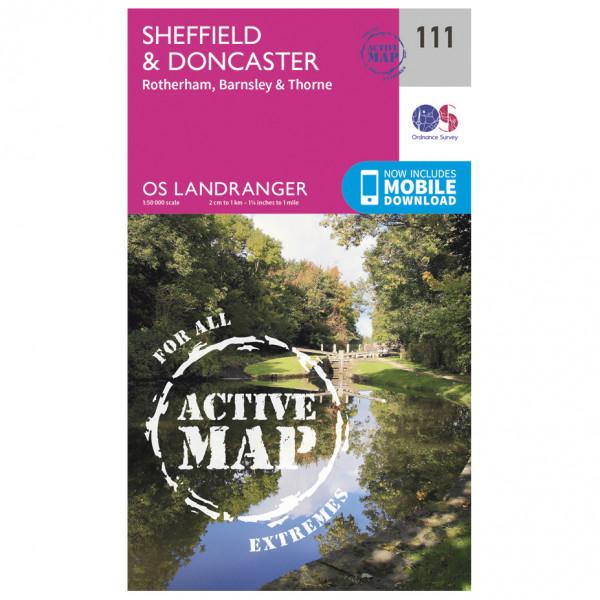 Ordnance Survey - Sheffield / Doncaster / Rotherham Waterproof LA111 - Wanderkarte