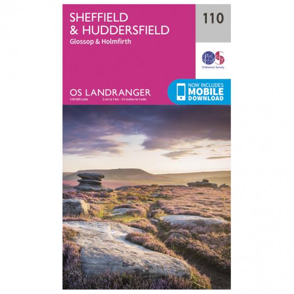 Ordnance Survey - Sheffield / Huddersfield L110 - Wanderkarte