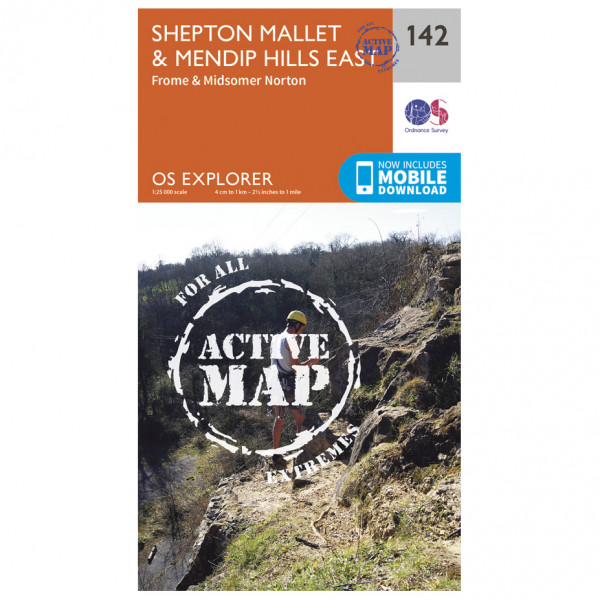 Ordnance Survey - Shepton Mallet / Mendip Hills East Waterproof - Mapa de senderos