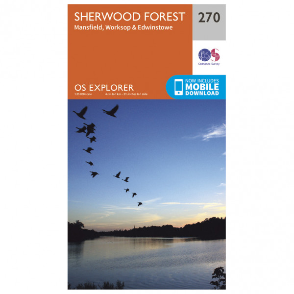 Ordnance Survey - Sherwood Forest - Mapa de senderos