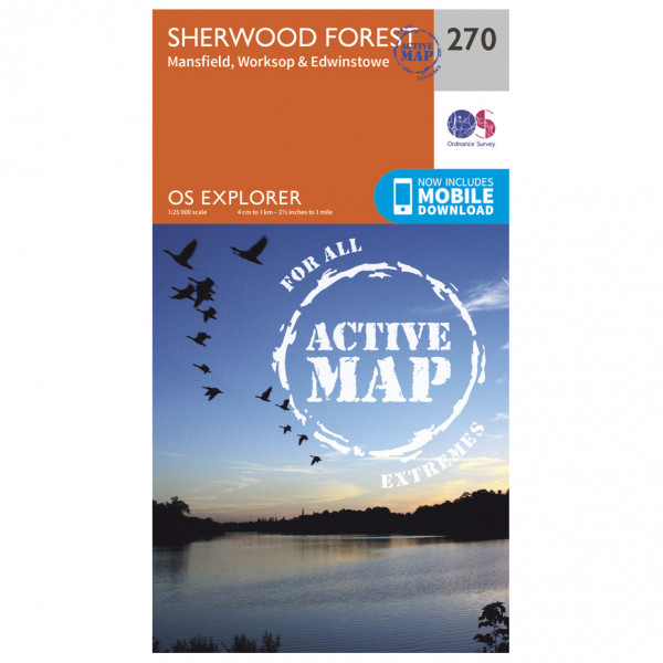 Ordnance Survey - Sherwood Forest Waterproof - Hiking map