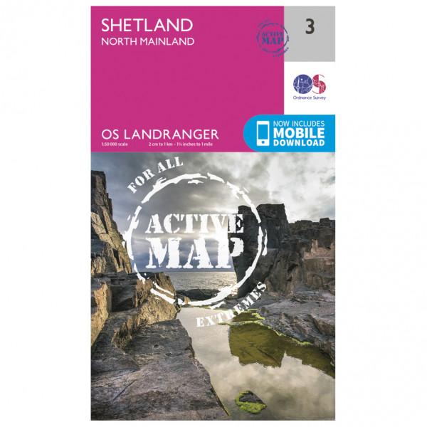 Ordnance Survey - Shetland - North Mainland Waterproof - Vandringskartor