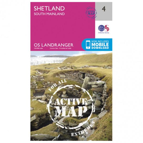 Ordnance Survey - Shetland - South Mainland Waterproof - Hiking map