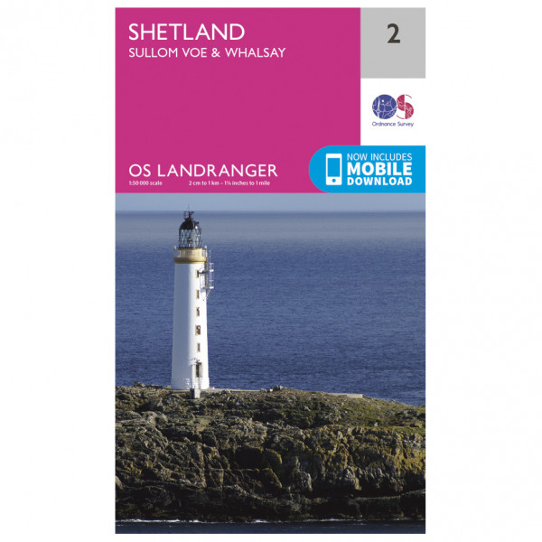 Shetland - Sullom Voe / Whalsay - Hiking map