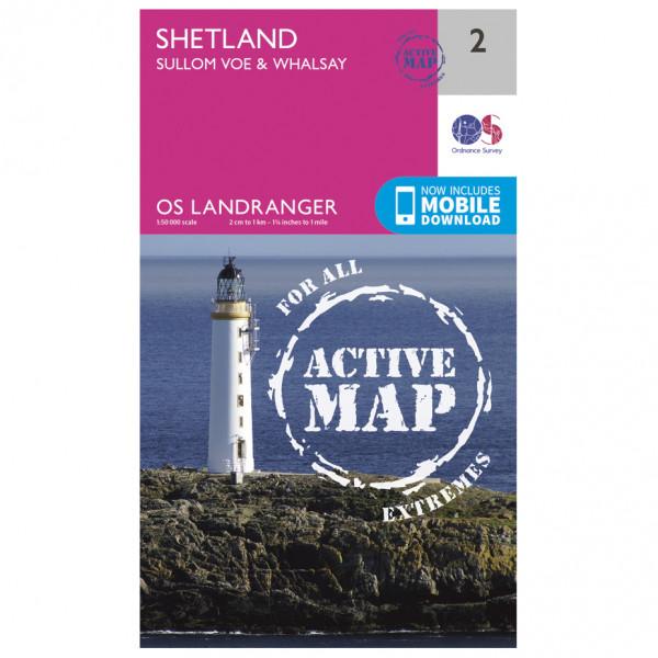 Ordnance Survey - Shetland - Sullom Voe / Whalsay Waterproof - Vaelluskartat