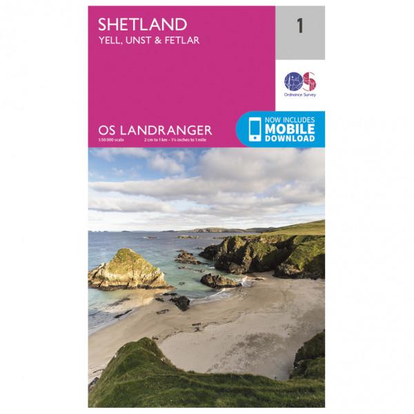 Ordnance Survey - Shetland - Yell / Unst / Fetlar - Wandelkaarten