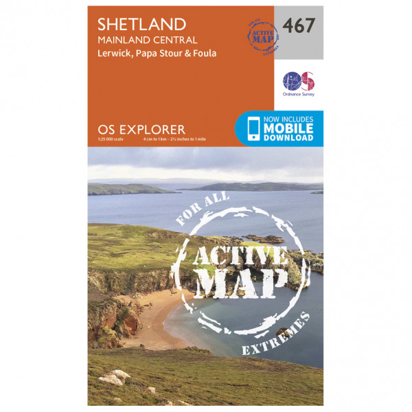 Ordnance Survey - Shetland / Mainland Central Waterproof - Vandringskartor