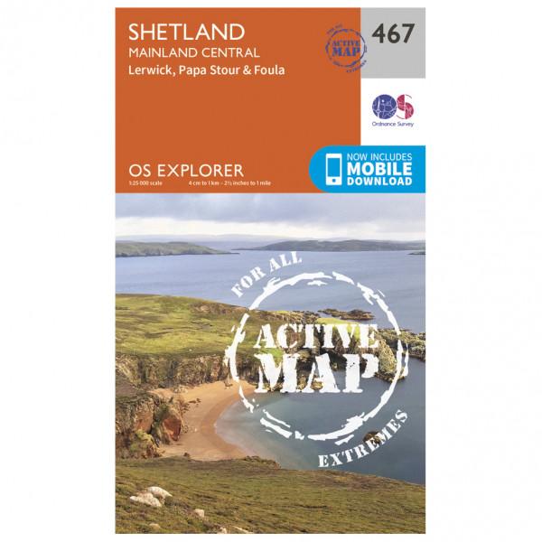 Ordnance Survey - Shetland / Mainland Central Waterproof - Wandelkaarten