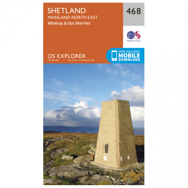 Ordnance Survey - Shetland / Mainland North East EXP468 - Wanderkarte