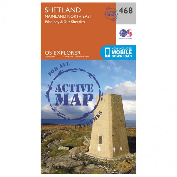 Ordnance Survey - Shetland / Mainland North East Waterproof - Vandrekort