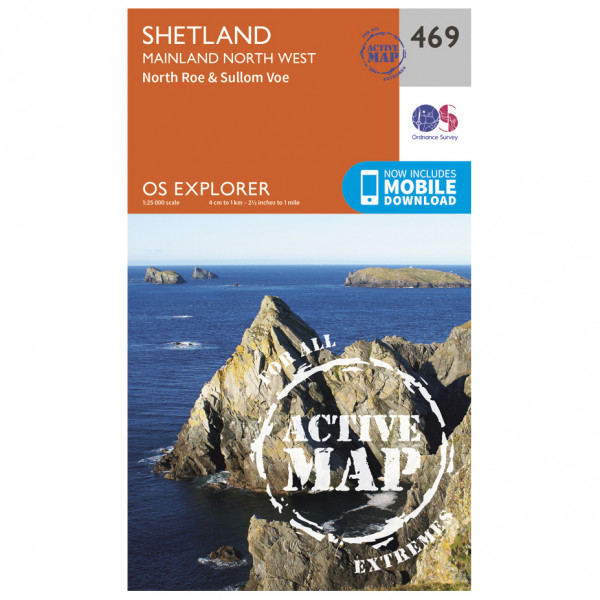 Ordnance Survey - Shetland / Mainland North West Waterproof - Vandrekort