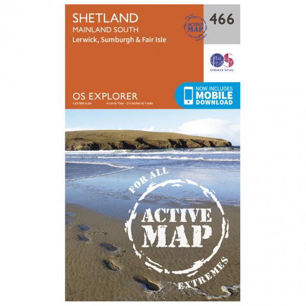Ordnance Survey - Shetland / Mainland South Waterproof - Hiking map