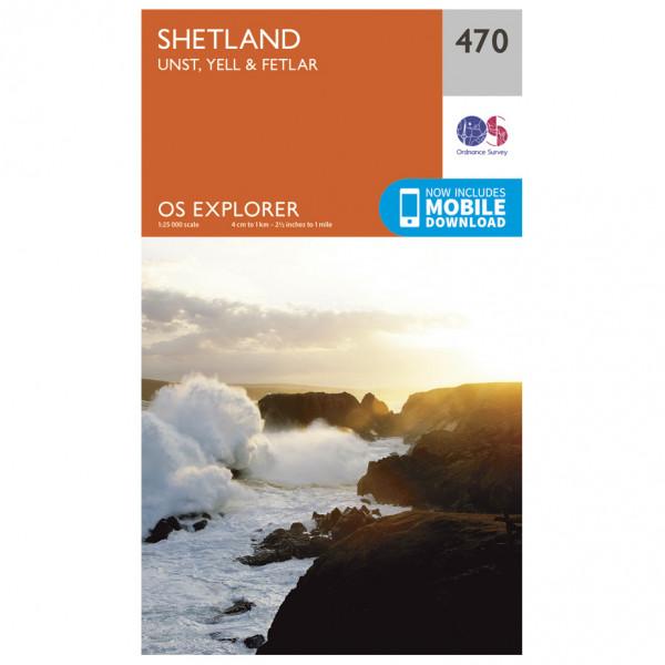 Ordnance Survey - Shetland / Unst / Yell / Fetlar - Vandrekort