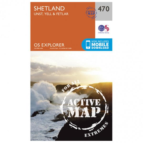 Ordnance Survey - Shetland / Unst / Yell / Fetlar Waterproof EXPL470 - Wanderkarte