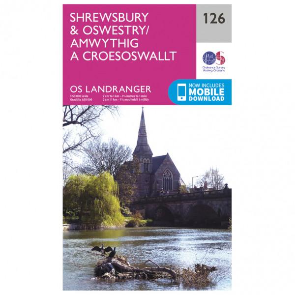 Ordnance Survey - Shrewsbury / Oswestry - Vandringskartor