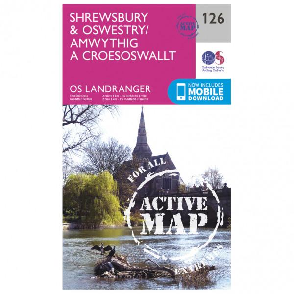 Ordnance Survey - Shrewsbury / Oswestry Waterproof - Vaelluskartat