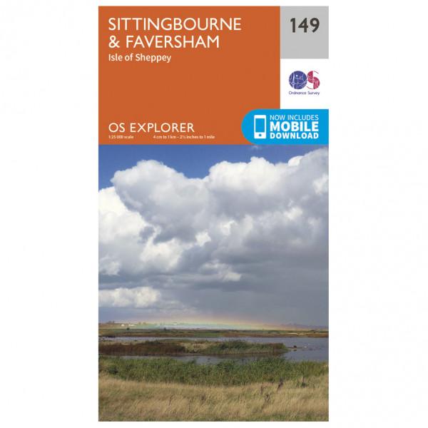 Ordnance Survey - Sittingbourne / Faversham - Wandelkaarten