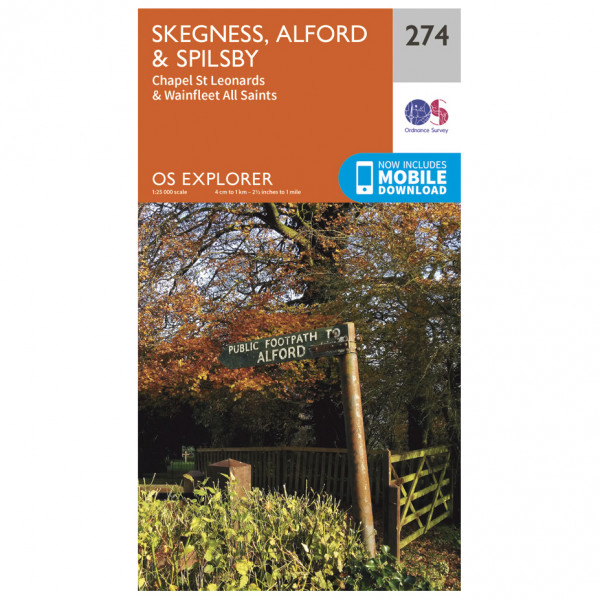 Ordnance Survey - Skegness / Alford / Spilsby - Hiking map