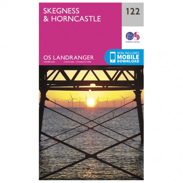 Ordnance Survey - Skegness / Horncastle - Vandrekort