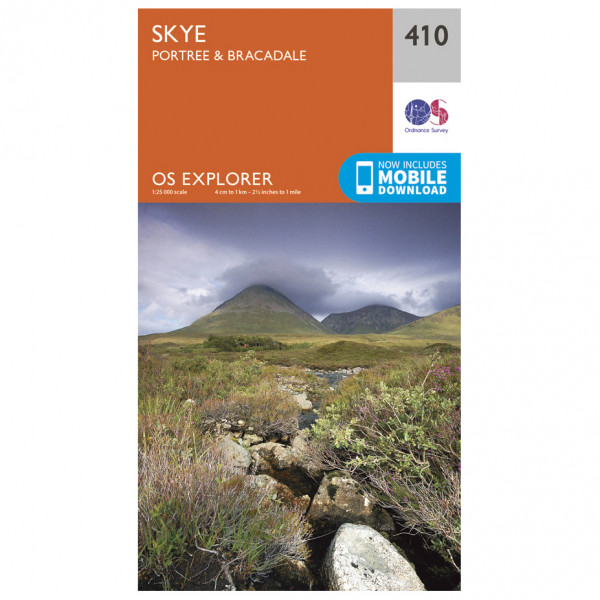 Ordnance Survey - Skye / Portree / Bracadale - Hiking map