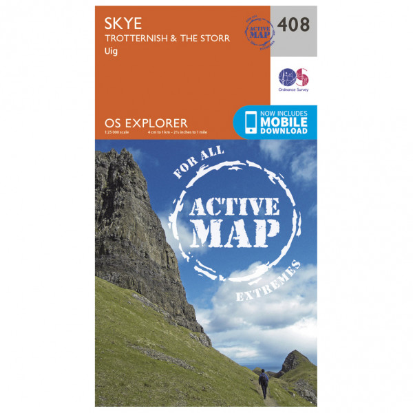 Ordnance Survey - Skye / Trotternish / The Storr Waterproof EXPL408 - Wanderkarte