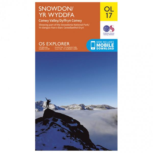 Ordnance Survey - Snowdon / Conwy Valley / Dyffryn Conwy Outdoor - Hiking map