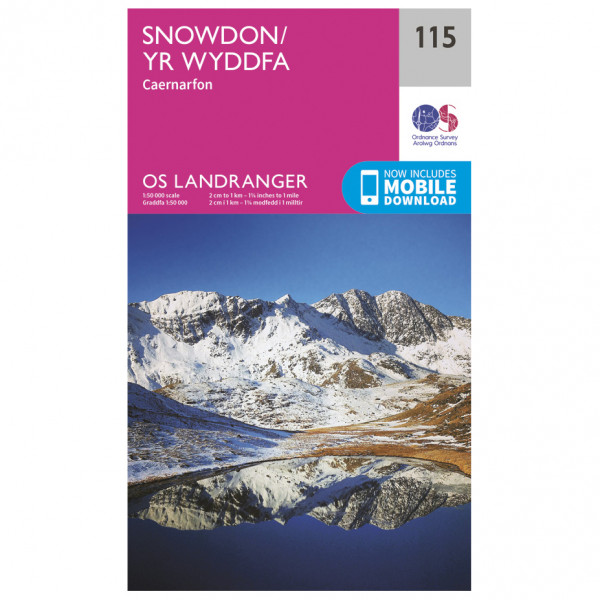 Ordnance Survey - Snowdon / Yr Wyddfa - Vandrekort