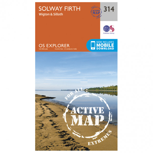 Ordnance Survey - Solway Firth Waterproof - Hiking map