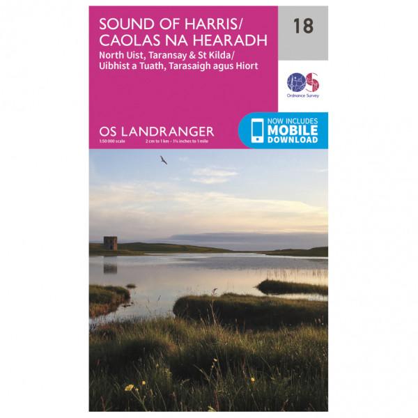 Ordnance Survey - Sound Of Harris L018 - Wanderkarte